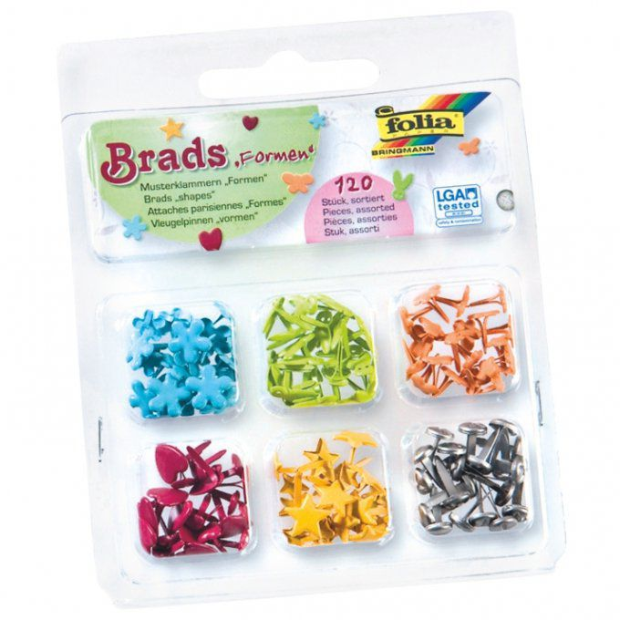120 attaches parisiennes fantaisies 10 mm couleurs assorties